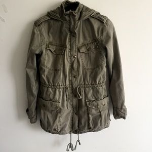 ARITZIA Talula Military Trooper Jacket Army Green